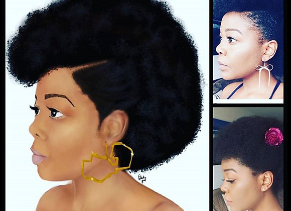 Custom bust portrait | Personalised art print