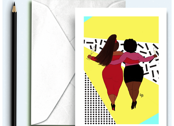 On the town (b) | Greetings card