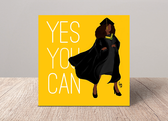 Heroes - yes you can | Greetings card