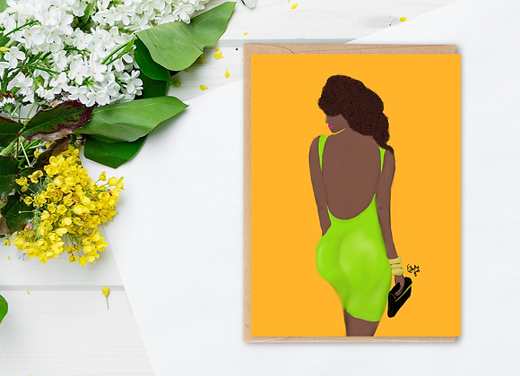 Ms Green | Greetings card