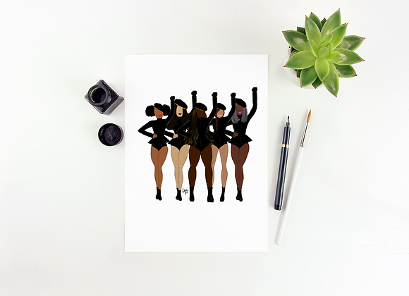 Formation '18 - Stay woke series | Greetings card