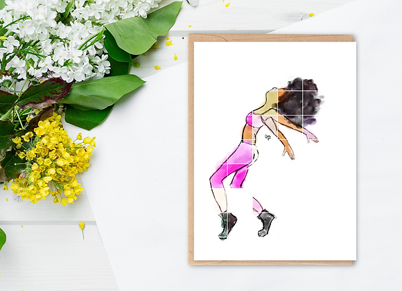Moves (female) | Greetings Card