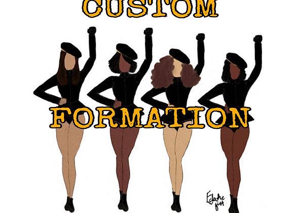 Custom Formation | personalised art print
