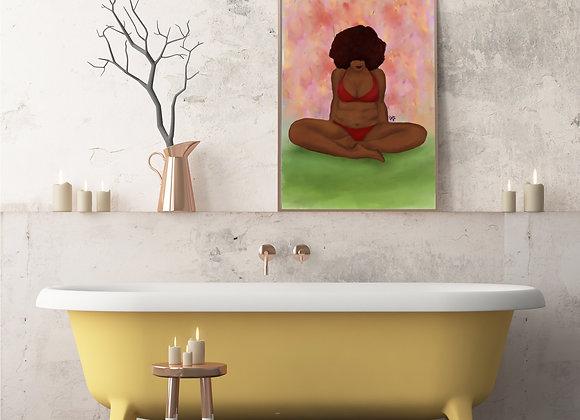 As I am | wall art print | body positive | various sizes