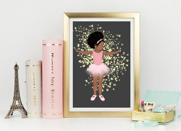 Baby Brown Ballerina | wall art print | Ballerina