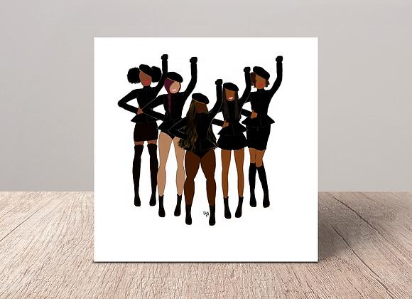 Formation fashionistas - Stay woke series | Greetings card