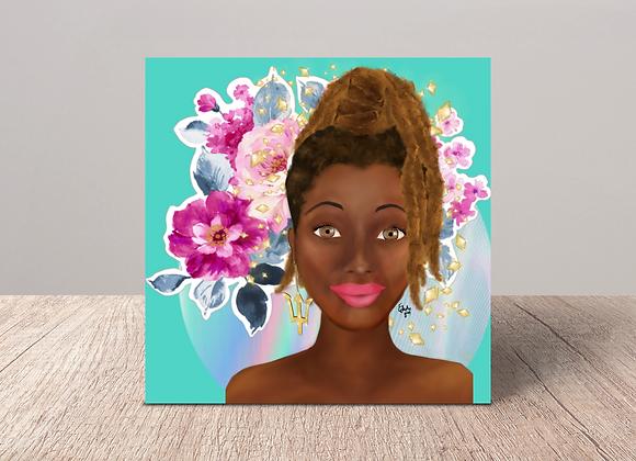 Bajan Beauty | Greetings card