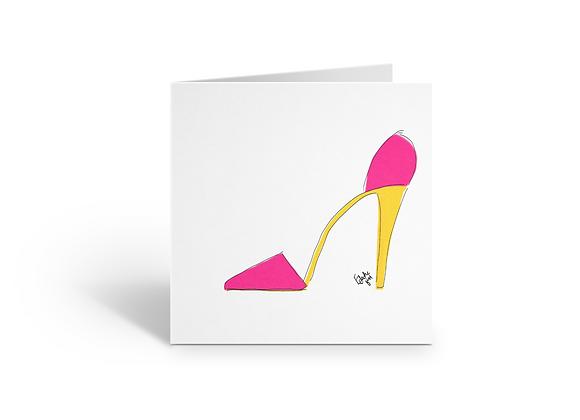 Pink stilettos | Greetings card
