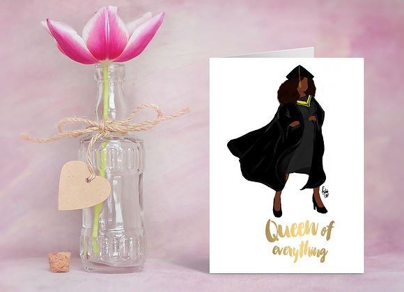 Heroes - Queen of everything | Greetings card