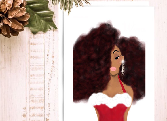 Holiday diva | Christmas | holiday season | Greetings card
