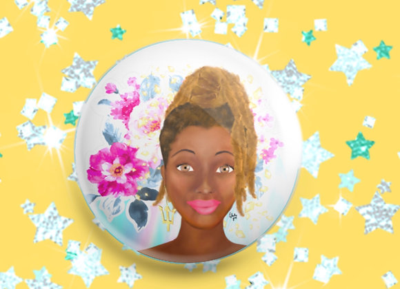 Bajan beauty | badge | mirror | magnet