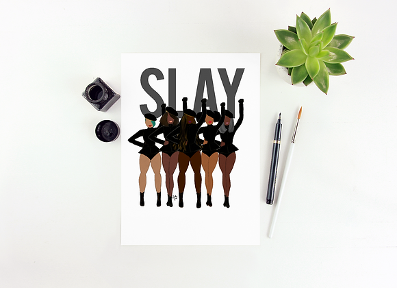 Slay - Stay woke series | Greetings card