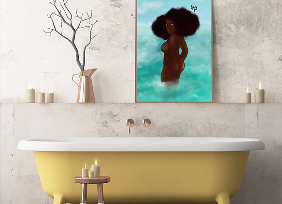 Into the blue | wall art print | body positive | various