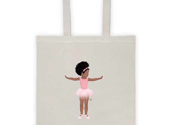 Baby brown ballerina |Natural 100% cotton Tote bag
