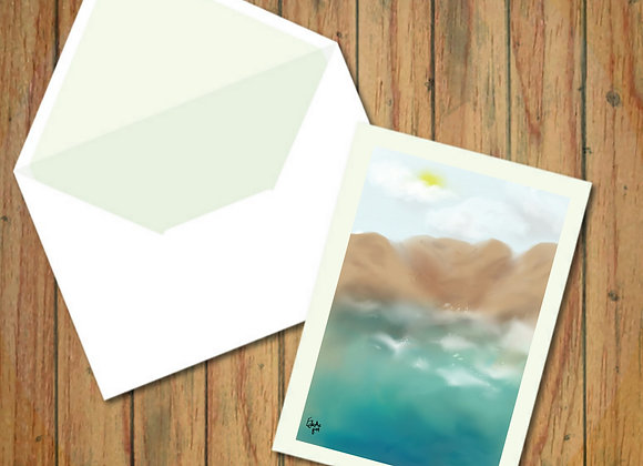 Hidden cove | Greetings card