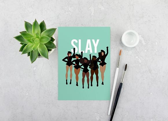 Slay (b) - Stay woke series | Greetings card