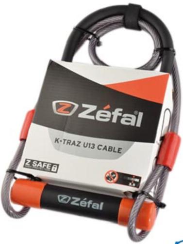 Antivol U Zéfal avec câble à boucle