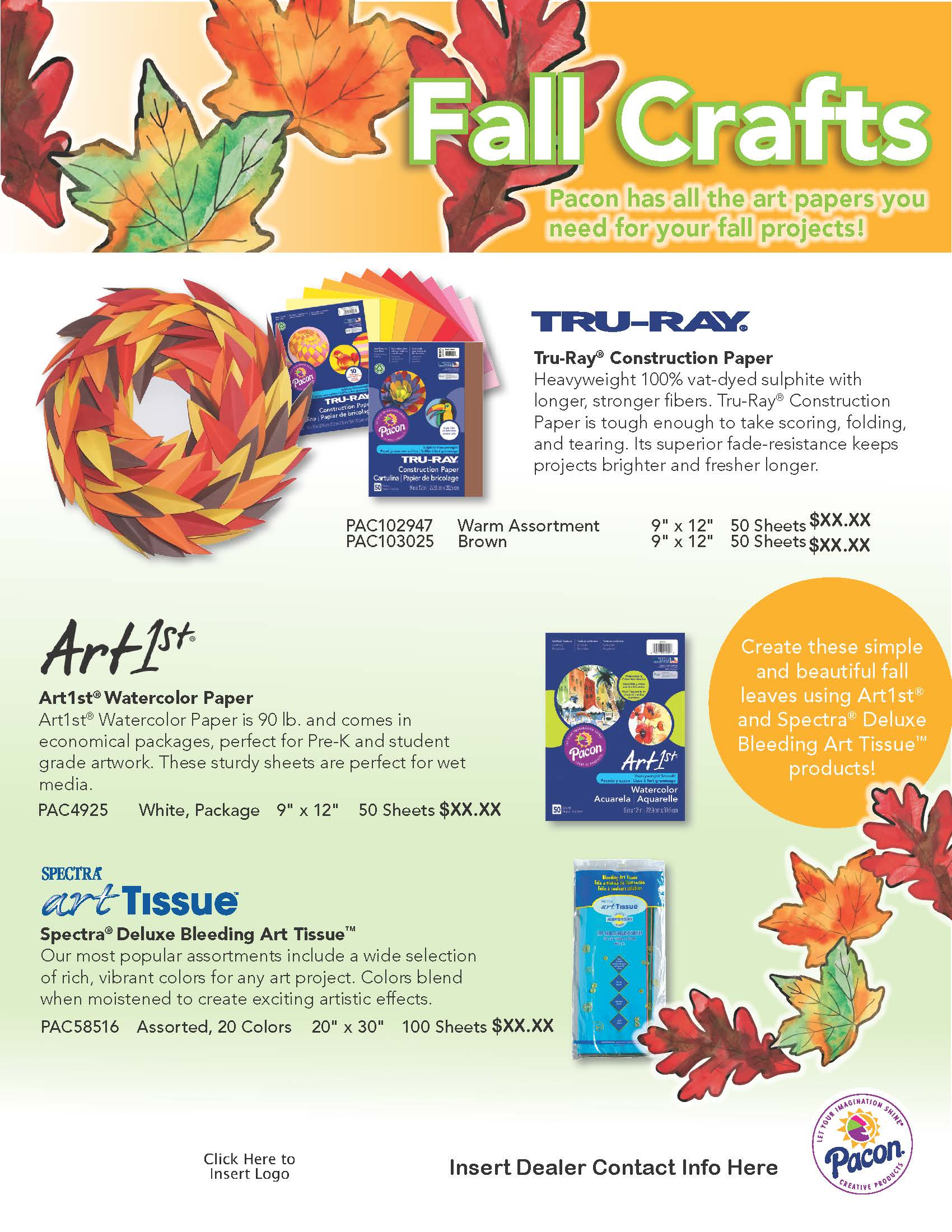 Fall Crafts Flyer