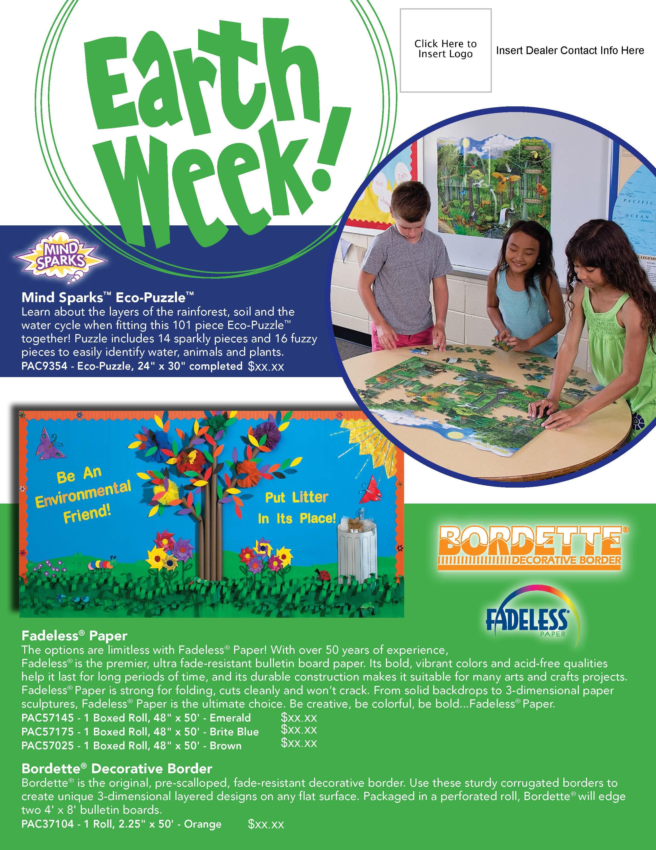 Pacon Earth Week Flyer