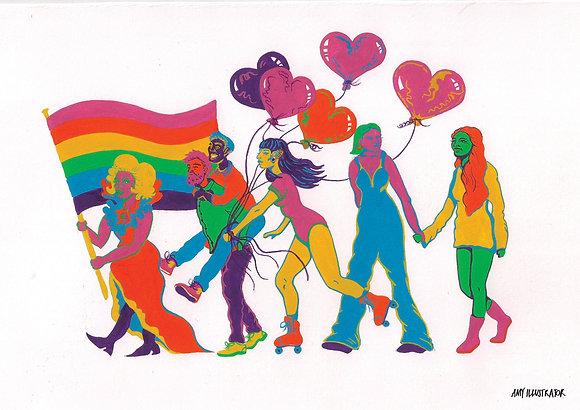 Pride march print