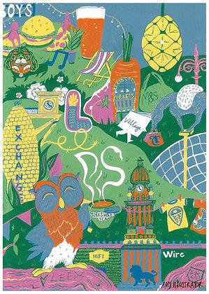 Illustrated Leeds print
