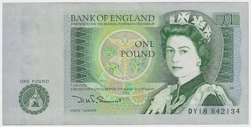 Somerset £1 Pound Banknote Isaac Newton