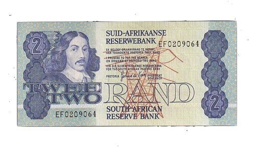 SOUTH AFRICA 2 RAND DE KOCK UNC