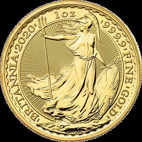 1oz Gold UK Britannia Coin, 2020