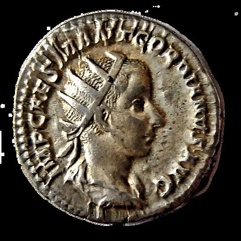 Gordian III AR Antoninianus 239 AD Jupiter standing