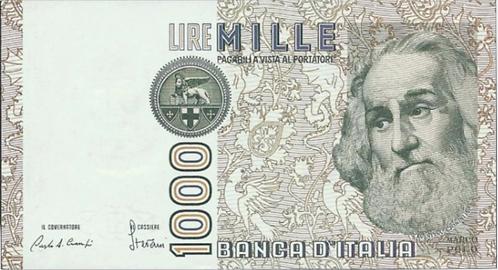Italy 1000 Lire (1982) Ciampi/ Stevani, UNC