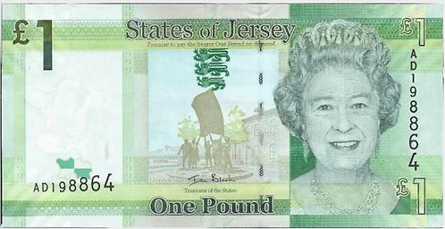 Jersey £1, Black signature, UNC