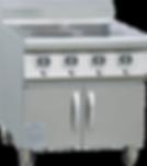 櫃式四頭煲仔爐 | 型號:VG-B4D2-A3.5*4