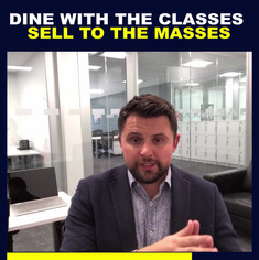 Dine With The Masses Sell To The Classes