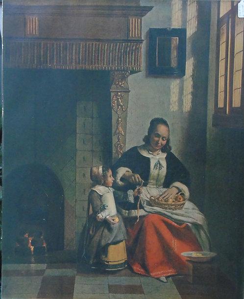 Copie peinture de P. de Hooch