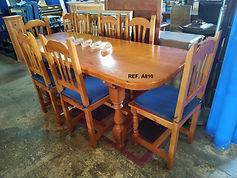 REF. A810 MESA + 8 SILLAS - TABLE + 8 CHAIRS 200 x 80 cm. 295€