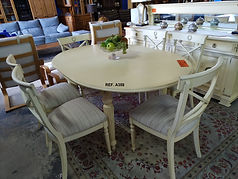 REF. A358 MESA EXTENSIBLE + 6 SILLAS - EXTENDABLE TABLE + 6 CHAIRS 130 x 110 cm. - 170 x 110 cm. 225€