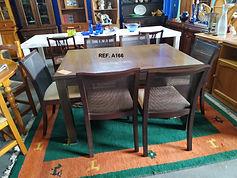 ref. A166 Mesa + 6 sillas- Table + 6 chairs 130 x 90 cm. 195€