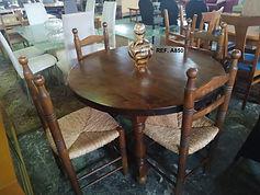 REF. A850 MESA + 4 SILLAS- TABLE + 4 CHAIRS 110 cm. 145€