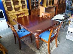Ref . A157 Mesa + 4 sillas - Table + 4 chairs 150 x 95 cm. 395€