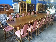 REF. A684 MESA + 14 SILLAS - TABLE + 14 CHAIRS 370 x 130 cm. 895€