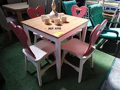 REF. A705 MESA - TABLE 75 x 75 cm. 65€  4 SILLAS - 4 CHAIRS 65€