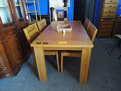 REF. A593 MESA + 4 SILLAS - TABLE + 4 CHAIRS 160 x 80 cm. 265€