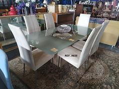 REF. A835 MESA + 6 SILLAS - TABLE + 6 CHAIRS 170 x 90 cm. 325€