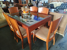 REF. A861 MESA EXTENSIBLE + 6 SILLAS - EXTENDABLE TABLE + 6 CHAIRS 130 - 260 x 90 cm. 295€