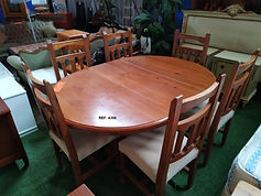 REF. A306 MESA EXTENSIBLE + 6 SILLAS - EXTENDABLE TABLE + 6 CHAIRS 120 CM. - 165 X 120 CM. 245€