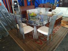 REF. A915 MESA + 6 SILLAS - TABLE + 6 CHAIRS 168 x 107 cm. 295€