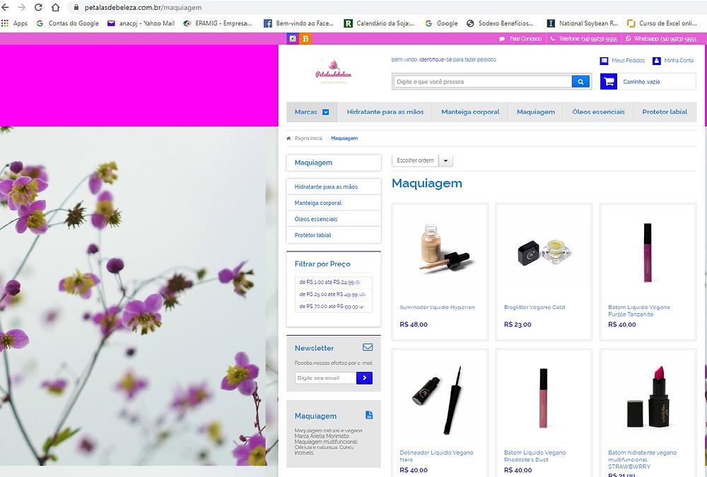 site petalas de beleza cosmeticos naturais e maquiagens