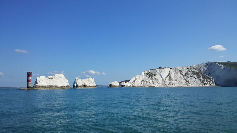 Needles Isle of Wight with The Salamander Sailing Adventure Yarmouth and Needles Boat Trip with Picnic Lunch specially prepared by multi award-winning chef Andrew Du Bourg of the Michelin recommended Elderflower Restaurant in Lymington Call or Text 07798 524111