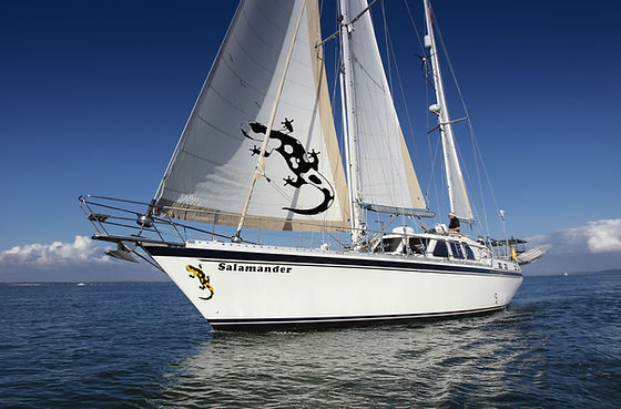 The Perfect Day Out with The Salamander Sailing Adventure Mudeford and Steamer Point Boat Trip with Picnic Lunch specially prepared by multi award-winning chef Andrew Du Bourg of the Michelin recommended Elderflower Restaurant in Lymington Call or Text 07798 524111