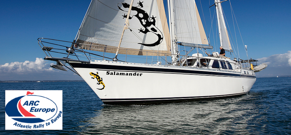ARC Europe crossing with The Salamander Sailing Adventure a well-known ARC participant to experience life on board blue water sailing yacht which has already circumnavigated the world and completed ARC 2017, ARC 2018, ARC 2019, and ARC Europe 2019 Email info@thesalamandersailingadventure.com Call or Text +44 (0)7798 524111
